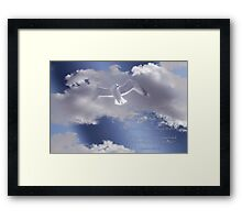 Seagull with Matthew 6:26-27 in White Letters Framed Print