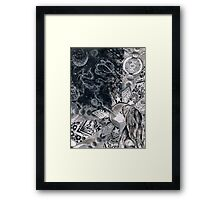 The Girl With Starlight In Her Soul (Ink) Framed Print