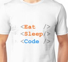 Eat. Sleep. Code. Unisex T-Shirt