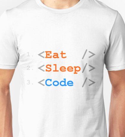 Eat. Sleep. Code. Unisex T-Shirt
