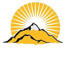 Beautiful mountains Alpine Sun by Style-O-Mat