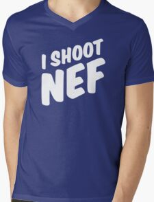 I shoot NEF Mens V-Neck T-Shirt