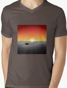 Burger At Sea Mens V-Neck T-Shirt