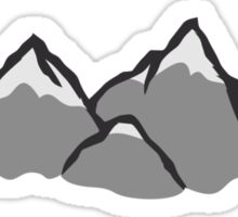 Beautiful mountain landscape with snow Sticker