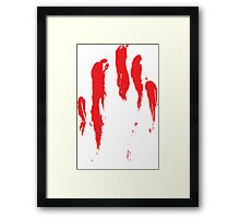 Bloody Hands Framed Print