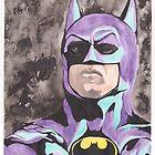 Batman 1989 portrait nes colors by CalciferBoheme