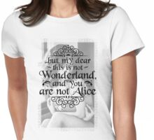 It's not Wonderland. Womens Fitted T-Shirt