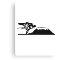 Africa tree mountain Kilimanjaro Canvas Print