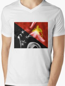 Papua New Guinea Flag Mens V-Neck T-Shirt