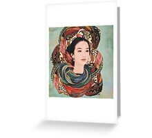 Caught up in color. Greeting Card