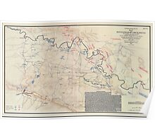 Civil War Maps 0860 Map of the battlefield of Chickamauga September 19th and 20th 1863 02 Poster