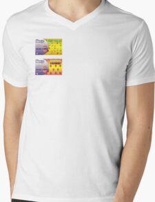 LICKABLE STICKERS JOKE! Mens V-Neck T-Shirt