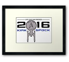 Vote Kirk & Spock 2016 Framed Print