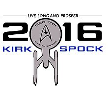 Vote Kirk & Spock 2016 Photographic Print