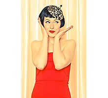 Beautiful woman with black hair Photographic Print