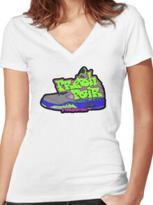 Fresh Pair of Bel Airs Women's Fitted V-Neck T-Shirt