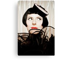 Lovely looking Girl with black hairs Canvas Print