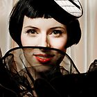 Young pretty women in vintage clothing by Pixmover