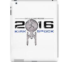 Vote Kirk & Spock 2016 (Vintage) iPad Case/Skin