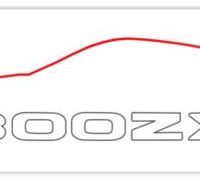Nissan 300ZX Z32 Brushstroke Silhouette Sticker Sticker