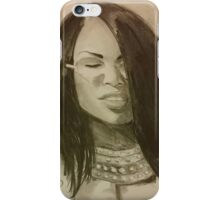 Aaliyah with glasses iPhone Case/Skin