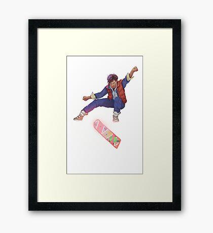 Marty Kickflip Framed Print