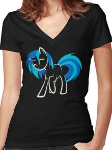 My Little Pony: Vinyl Scratch Women's Fitted V-Neck T-Shirt
