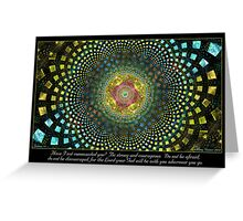 Strong and Courageous Greeting Card