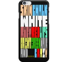 White Red Green CRAZY iPhone Case/Skin