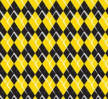 black and yellow rhombus pattern background by elgreko
