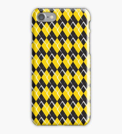 black and yellow rhombus pattern background iPhone Case/Skin