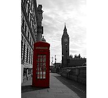 Red phone box, London Photographic Print