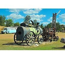 Old Miner's Steam Engine Photographic Print