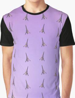 Eiffel Tower Pattern Graphic T-Shirt