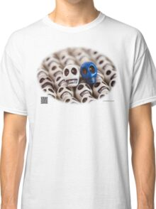White And Blue Classic T-Shirt