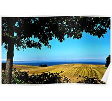 Dreaming of summer at a distant coast Poster