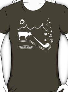 ALPEN-MOO t-shirt alphorn cow mountains alps T-Shirt