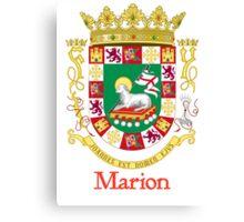 Marion Shield of Puerto Rico Canvas Print