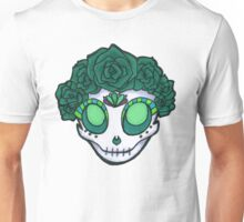 Aqua Rose Crown Skull Unisex T-Shirt