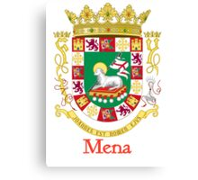 Mena Shield of Puerto Rico Canvas Print