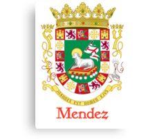 Mendez Shield of Puerto Rico Canvas Print
