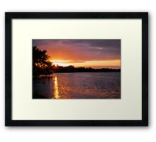 Sunset at Franklin Lock Framed Print