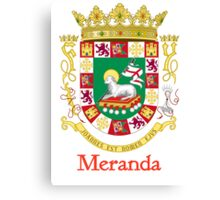 Meranda Shield of Puerto Rico Canvas Print