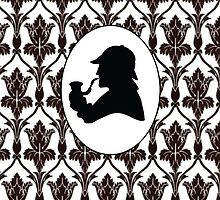 Sherlock Silhouette + Wallpaper  by eheu