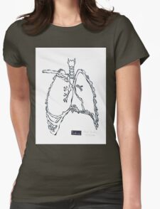 X-ray : Lung Womens Fitted T-Shirt