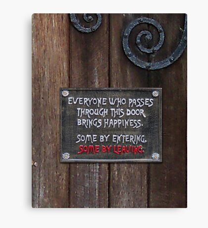 A Humorous Sign Canvas Print