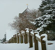 St Martha on the Hill, Near Chilworth, Guildford in the Snow by looneyatoms