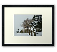 St Martha on the Hill, Near Chilworth, Guildford in the Snow Framed Print