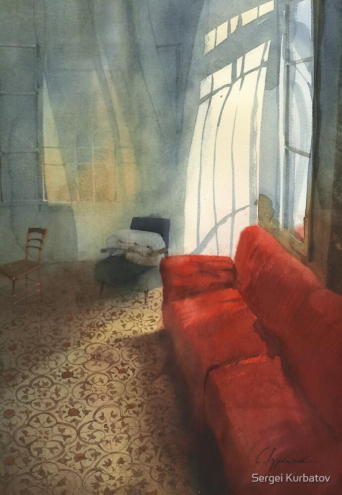 Red sofa by Sergei Kurbatov