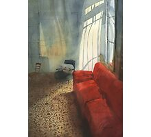 Red sofa Photographic Print